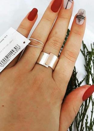 Кольцо серебро 925 с золотом пл0014