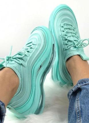 Nike Air Max 97 SE Mint. Кроссовки женские бирюзовые