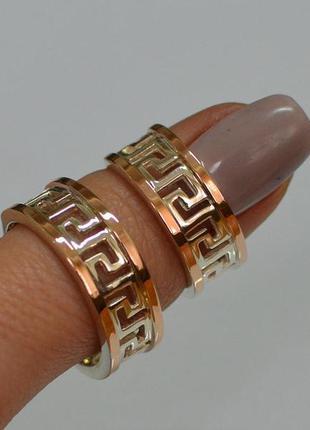 Кольцо серебро 925 с золотыми пластинами 022к