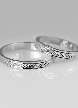Кольцо серебро 925 обручальное американка юм10701 8