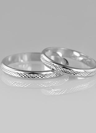 Кольцо серебро 925 обручальное  юм10700 8