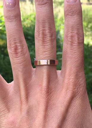 Кольцо серебро 925 с золотом обручальное веста