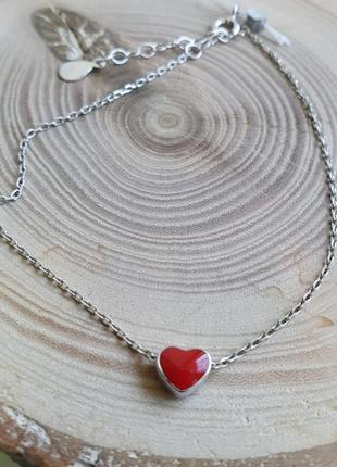 Браслет серебро 925 сердце вс121