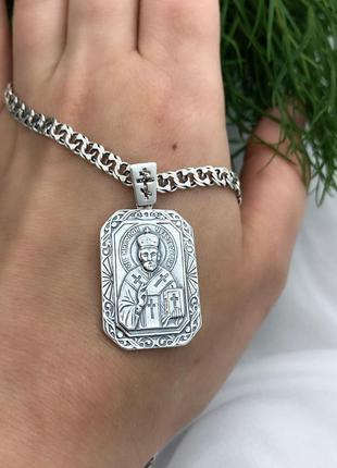 Ладанка серебро 925 святой николай и 3079 1