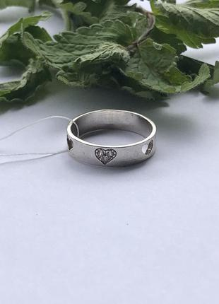 Кольцо серебро 925 колечко сердце 1408