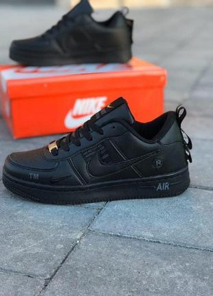 Кроссовки nike air force черные низкие