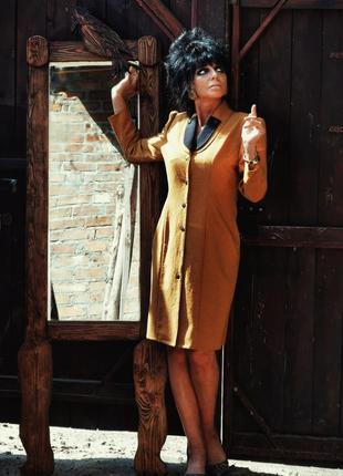 Винтажное платье кардиган пиджак миди ретро на пуговицах ego