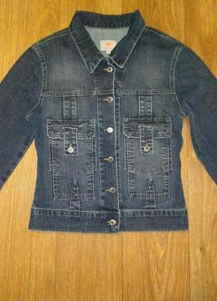 Куртка джинс ветровка джинсовая р. s