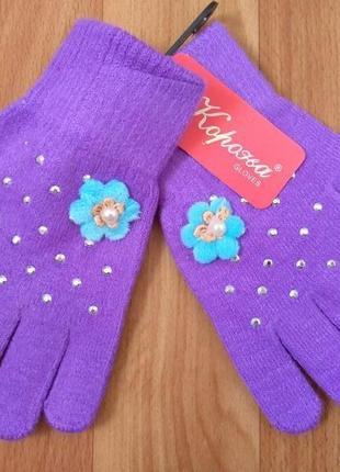 Перчатки шерстяные для девочки тм корона разный возраст и цвета
