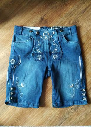 Шорты мужские джинсовые в традиционном стиле