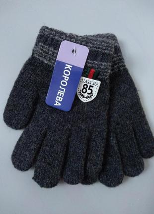 Теплые перчатки с начесом  3-4 года