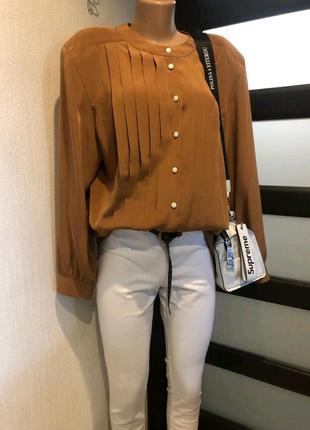 Тончайшая лёгкая шоколадная блузка рубашка кофточка