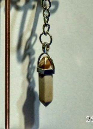 Стильный брелок-оберег из камня-кристалл(яшма)