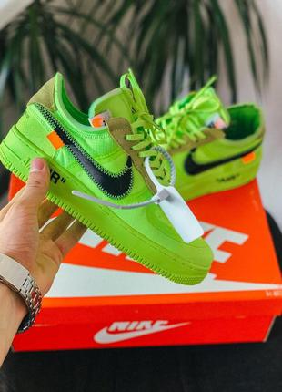 """Nike air force 1 """"off white"""" volt"""