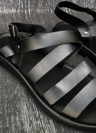 Мужские кожаные сандали (ретро римские сандали)