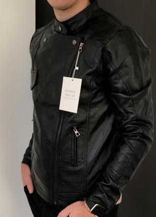 Кожаная мужская куртка косуха