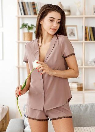 Пижама софт рубашка+шорты