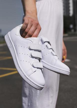 Adidas stan smith velcro white 🆕 женские кроссовки адидас 🆕 белый