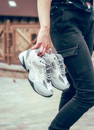 Nike m2k tekno atmosphere grey 🆕 женские кроссовки найк 🆕 серый