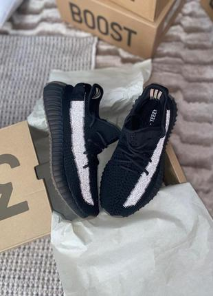 Adidas yeezy 350 v2 🆕 женские кроссовки адидас изи 🆕 черный