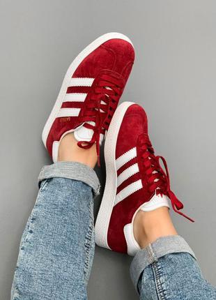 Adidas gazelle bordo 🆕 женские кроссовки адидас 🆕 бордовые