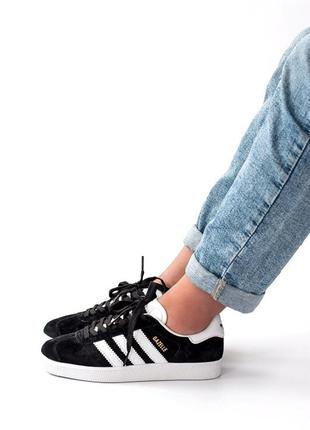 Adidas gazelle black 🆕 женские кроссовки адидас 🆕 черные