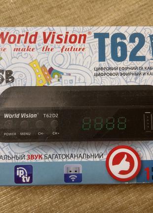 T2 World Vision T62D2/D3 DVB-T2/C ресивер, тюнер, приставка