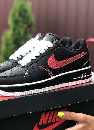 Nike air force 1 🆕 женские кроссовки найк 🆕 / черные/красный
