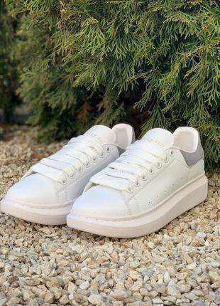 Alexander mcqueen oversized sneakers white grey 🆕 женские крос...