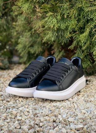 Alexander mcqueen oversized sneakers black white 🆕 женские кро...