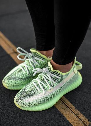Adidas yeezy boost 350 🆕 мужские кроссовки адидас изи 🆕 салатовый