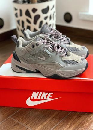 Nike m2k tekno atmosphere grey 🆕 женские кроссовки найк 🆕 серые
