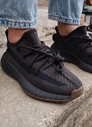 Yeezy 350 cinder 🆕 мужские кроссовки адидас 🆕  черные с коричн...