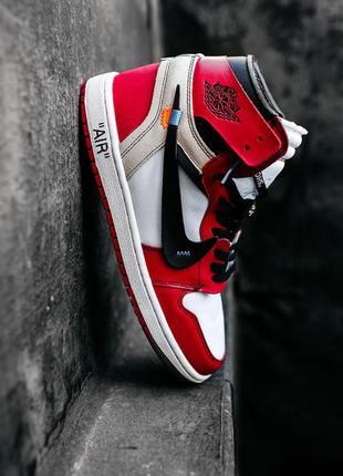"Nike air jordan  1 ""off-white"" 🆕 мужские кроссовки найк 🆕  бел..."