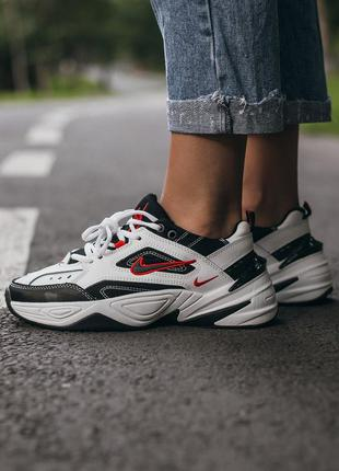 Nike m2k tekno  🆕 женские кроссовки найк 🆕 белый/красный/черный