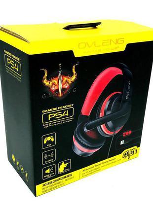Наушники OVLENG GT91 gaming headset (USB+2*3.5mm) Black-Red