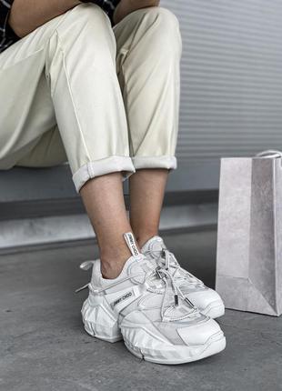 Jimmy choo white 🆕 женские кроссовки джимми чу 🆕 белый