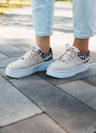 Nike air force 1 sage leopard 🆕 женские кроссовки найк еир фор...