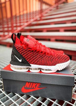 Nike lebron 16 red white/red/black 🆕 мужские кроссовки найк 🆕 ...