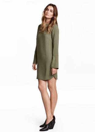 Прямое креповое плотное платье