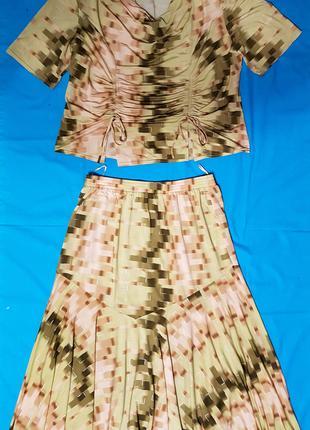 Костюм женский розово - салатовый трикотажный   Женский костюм дв