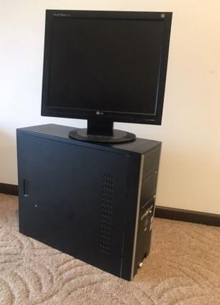 Компьютер в сборе, системный блок, монитор LG 17 - настольный пк