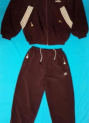 Женский костюм спортивный, двойка, - жакет, брюки, темно - бордо