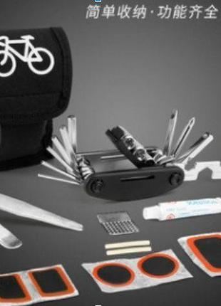 Ремкомплект для велосипеда с ключами в чехле