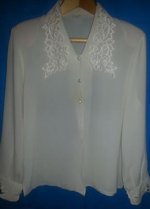 Блузка женская -  кремовая, Б/У, отличное состояние