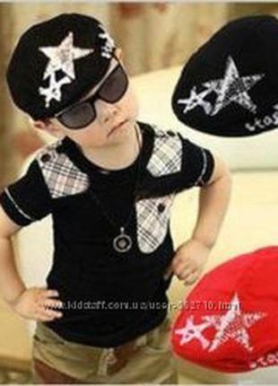 Стильная хлопковая кепка шапка звезда