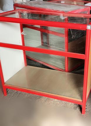 Торговые витрины для магазина стекло, алюминий 2 шт