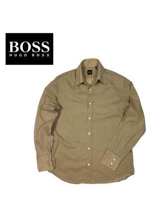 Тонкая рубашка boss hugo boss fitted - m