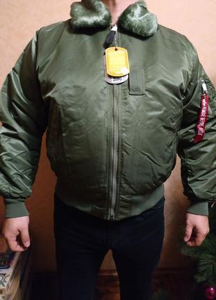 Alpha industries B15 куртка пилот Альфа бомбер зимняя оригинал...