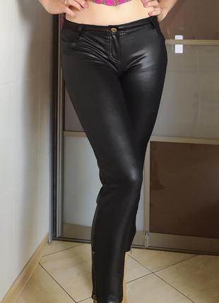 Леггинсы лосины штаны тонкие короткие м-л